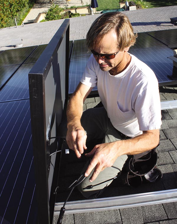 installting solar panels