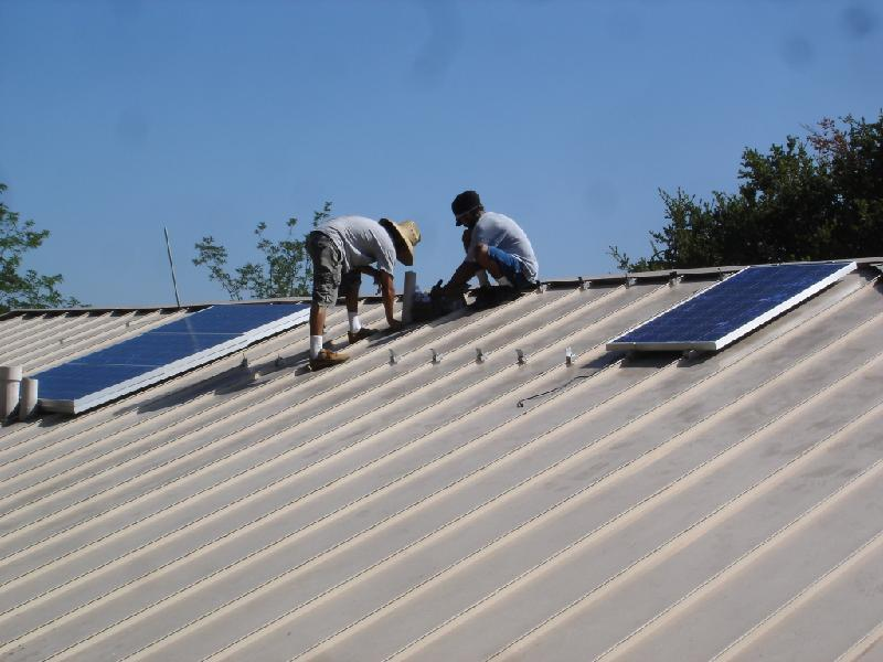 Bolting The Solar Panels